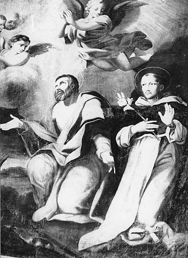 Tableau, cadre : Saint Jérôme et saint Dominique
