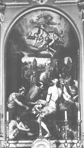 Tableau de la chapelle Saint-Barthélémy : Martyre de saint Barthélémy (le)