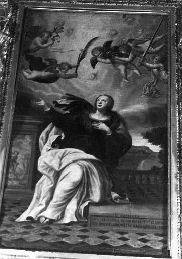 Retable du maître-autel, tableau : la Gloire de sainte Réparate