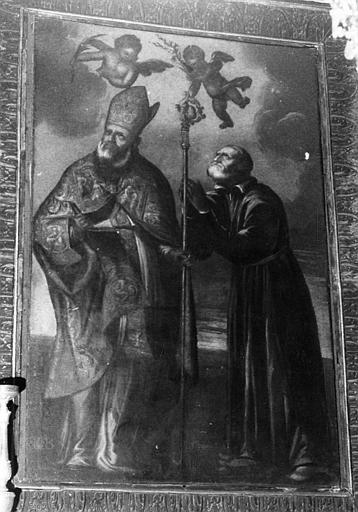 Tableau : saint Augustin et saint Philippe de Neri