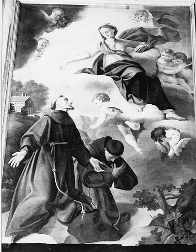 Tableau : Apparition de la Vierge à saint François (l')