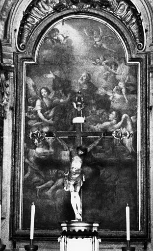 Autel, tableau (maître-autel) : Apothéose de saint François de Paule (l')