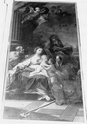 Tableau, cadre : la Sainte Parenté