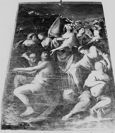 Tableau, cadre : Sainte Ursule et ses compagnes