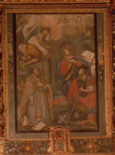 Tableau (autel secondaire), cadre : Annonciation avec saint Maurice et Lazare (l')