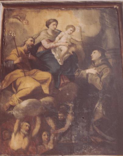 tableau : Vierge à l'Enfant apparaissant à saint Antoine de Padoue (la)
