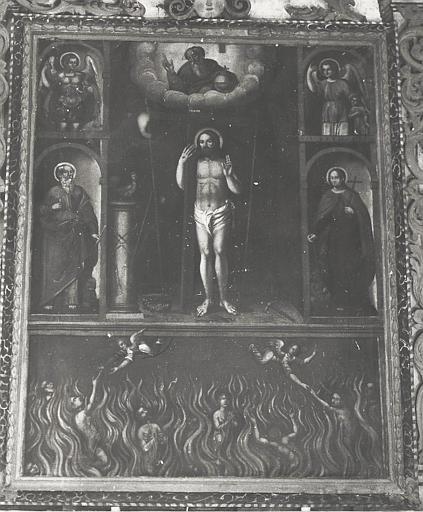 Retable, tableau : Les Ames du Purgatoire