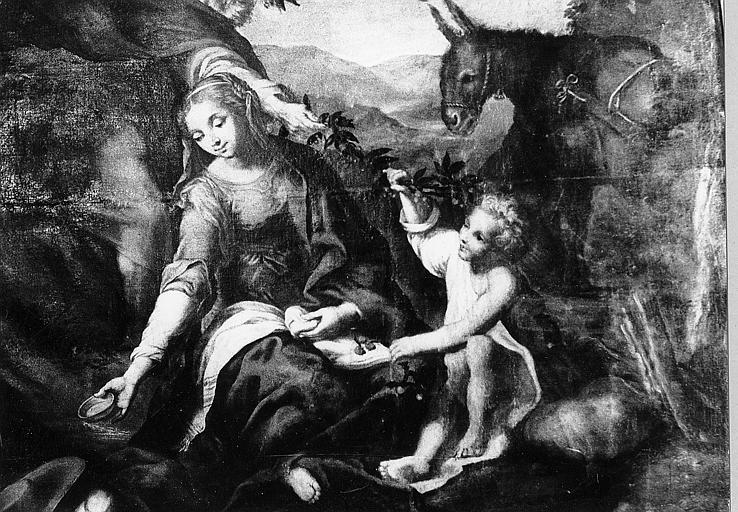 tableau : le Repos de la Sainte Famille
