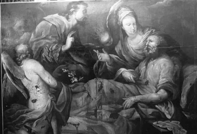 Tableau : Mort de saint Joseph (la)