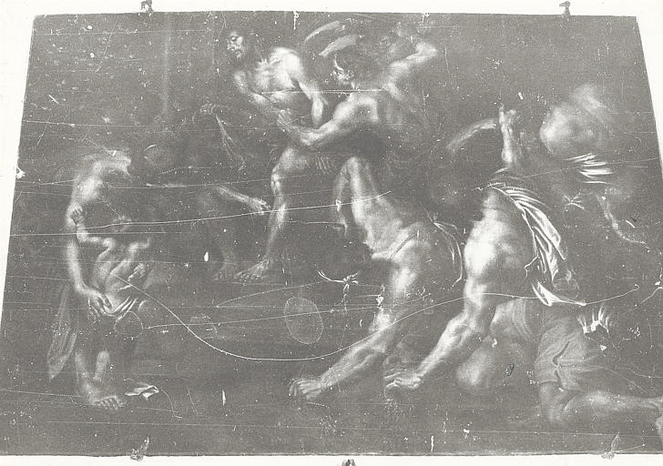 Tableau : scène de la Passion du Christ