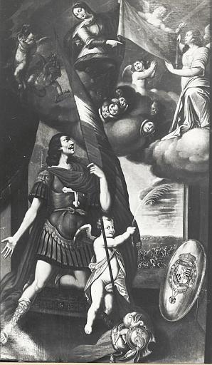 2 tableaux et leurs cadres : Saint Maurice, saint Amédée de Savoie