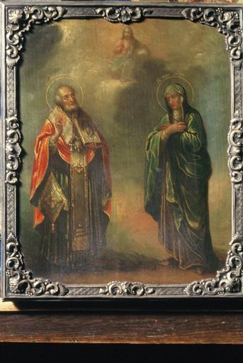 icône : saint Nicolas le Thaumaturge et sainte Sophie, martyre