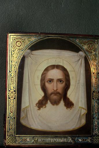 icône : le Sauveur Acheiropoietos ou au visage non créé par la main de l'homme