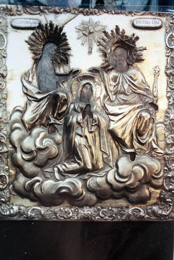 icône La Mère de Dieu du Couronnement ou Couronnement de la Vierge par la Trinité