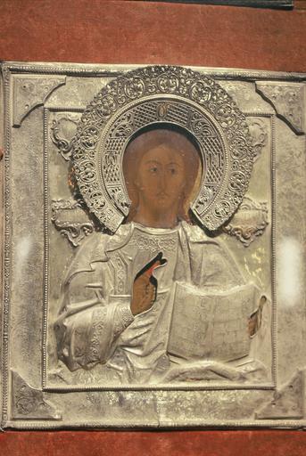 Icône : Le Sauveur avec l'Evangile