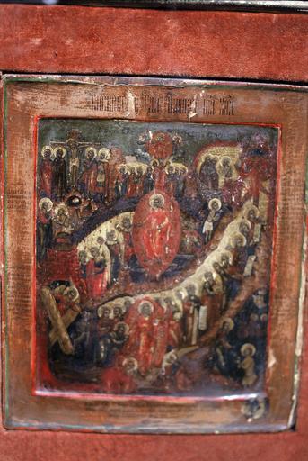 icône : Le Christ ressuscité descendant aux Enfers
