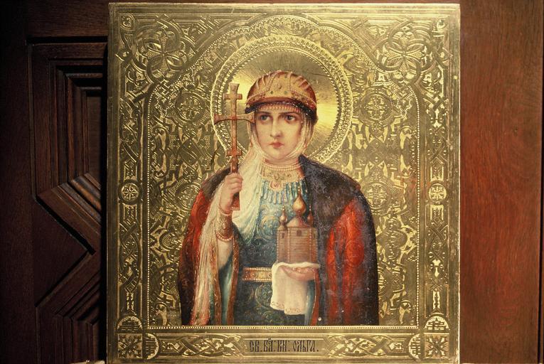 Icône : sainte Olga, grande pincesse de Russie