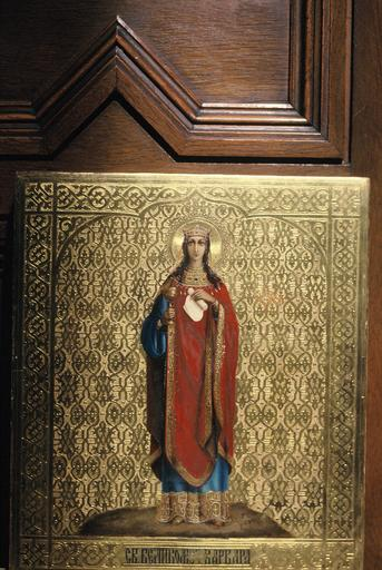 Icône : sainte Barbe (Varvara), mégalomartyre