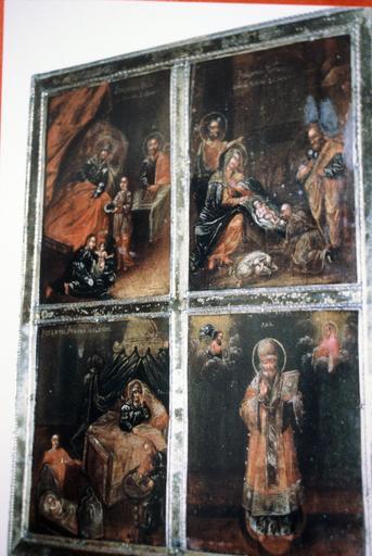 Icône : Nativité du Christ, Natitivé de la Vierge Marie, Nativité de saint Jean-Baptiste, saint Nicolas le Thaumaturge