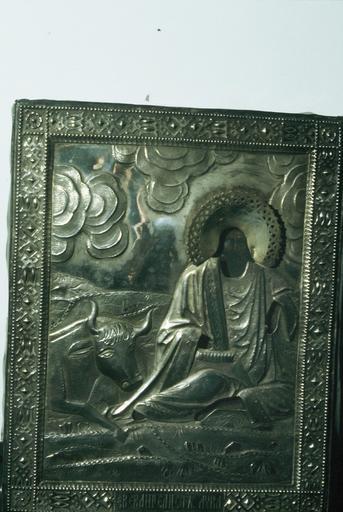 icône : saint Luc l'Evangéliste avec le taureau