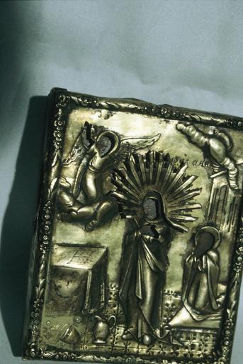 icône : L'Ange et la Vierge de l'Annonciation, avec sainte Anne