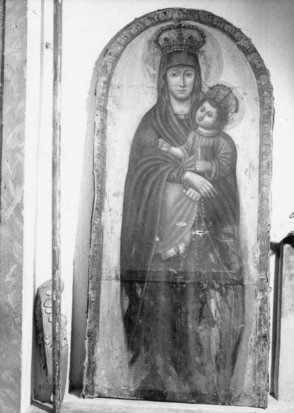 Tableau (porte de niche) : Vierge à l'Enfant Notre Dame du Bon Remède