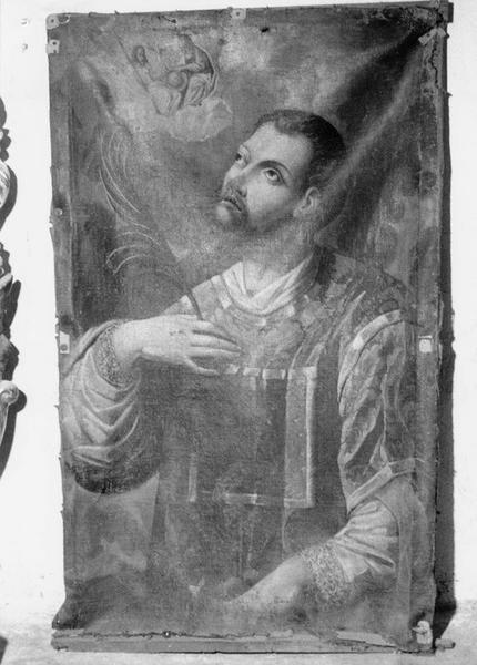Tableau : Saint Etienne martyr et la sainte Trinité