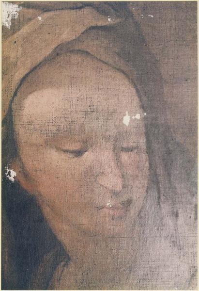 Tableau : la Mort de saint Joseph, détail