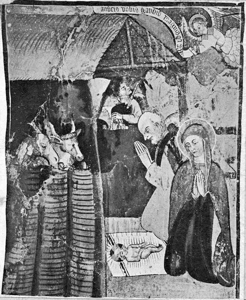 peintures monumentales : Scènes de la vie du Christ, Scènes de la vie de la Vierge, détail