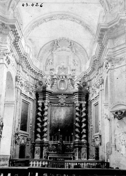 Retable de l'autel du saint sacrement, tableau : la Gloire du Christ