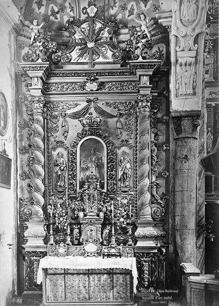 Autel, retable, devant d'autel de la Vierge-du-Rosaire