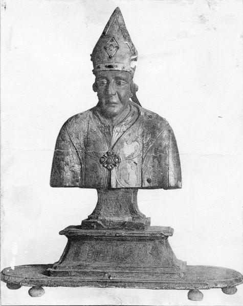 2 bustes-reliquaires : Saint Lambert, saint Véran