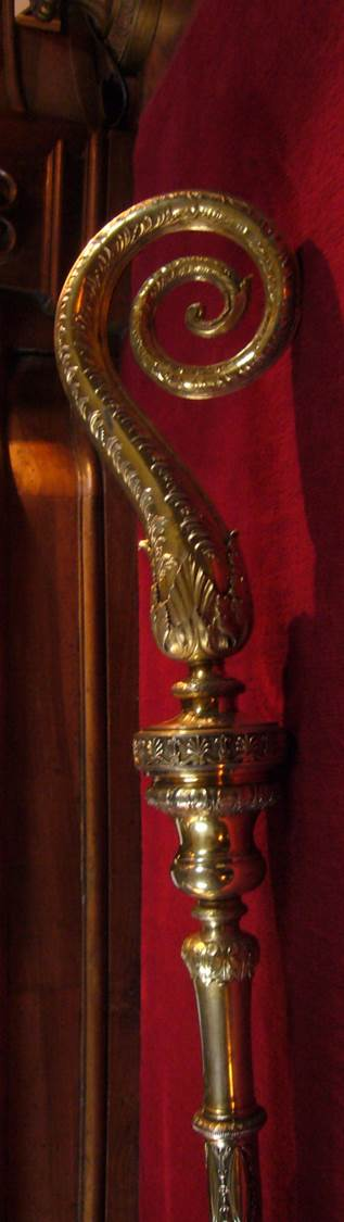 crosse épiscopale (ou pastorale) dite de Mgr Jean-Baptiste Colonna d'Istria, vue partielle