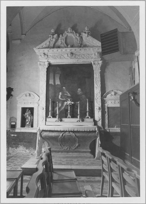 Retable et autel de la chapelle Saint-Antoine