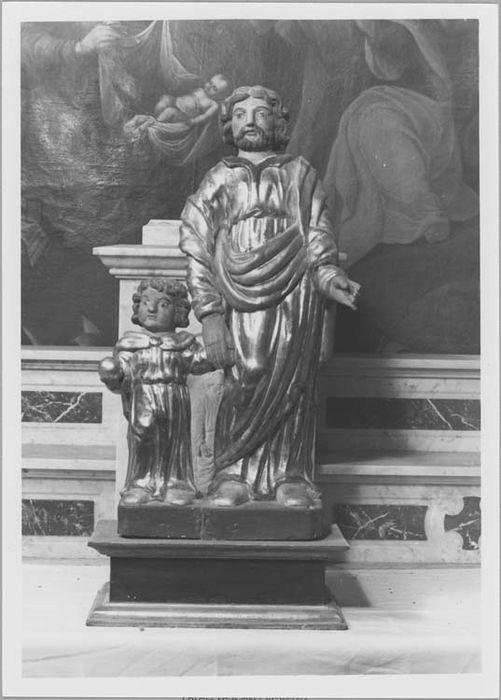 Statuette : saint Joseph et l'Enfant Jésus