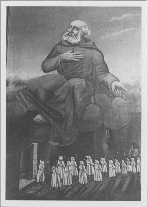 tableau : saint Bernardin de Sienne présentant les pénitents, vue générale