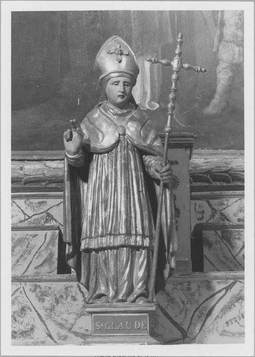 statue (petite nature) : saint Claude, vue générale