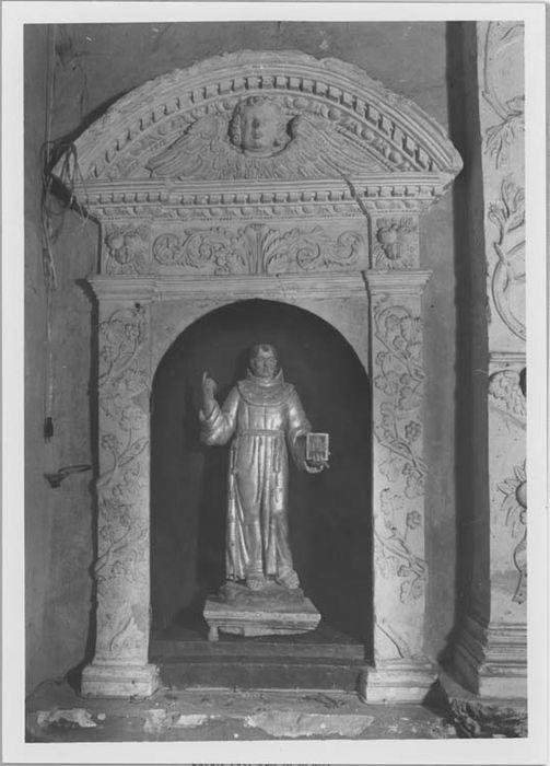 Niche et statuette : saint Bernardin de Sienne
