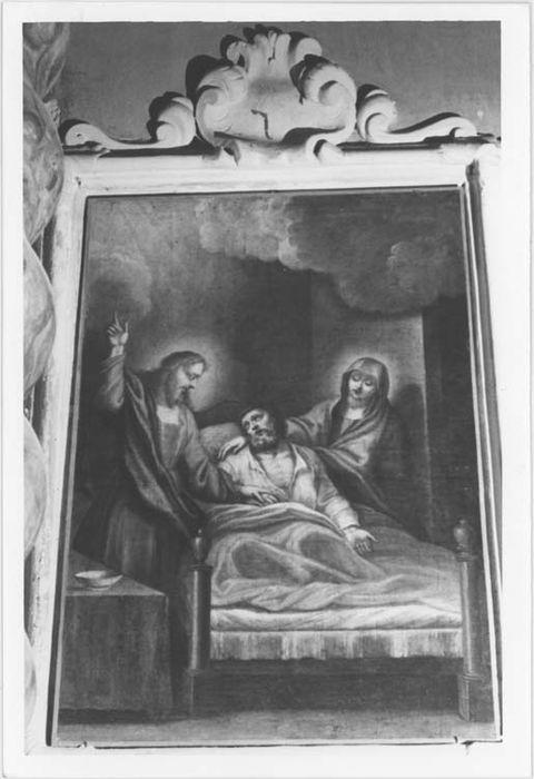 Deux tableaux et leurs cadres : La Fuite en Egypte et La Mort de Saint Joseph
