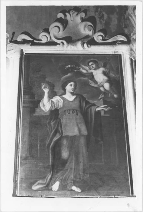 Deux tableaux et leurs cadres : Sainte Apolline et Sainte Agathe