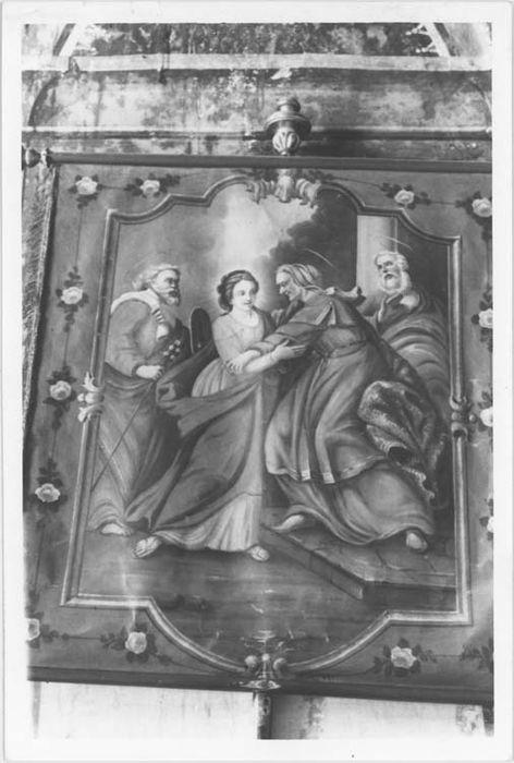 Deux bannières de procession : La Visitation et L'Immaculée Conception