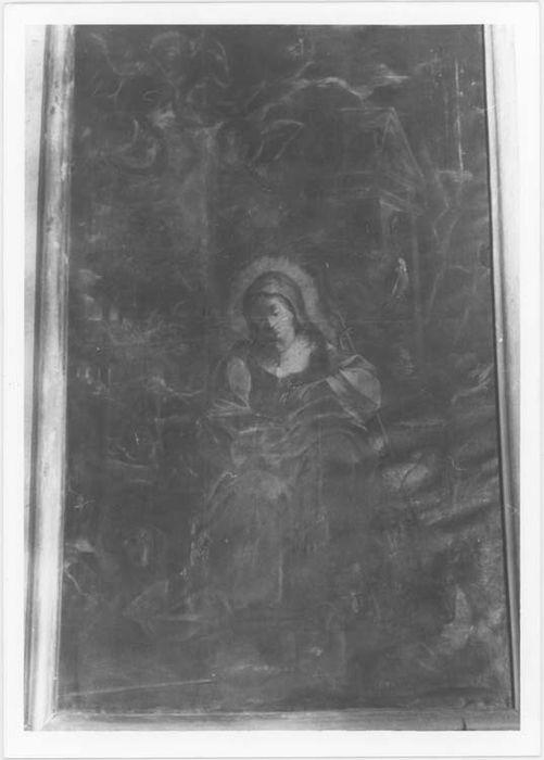 Tableau : Sainte Agnès gardant les moutons