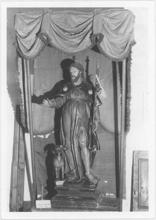 Dais de procession et statue de procession : saint Roch
