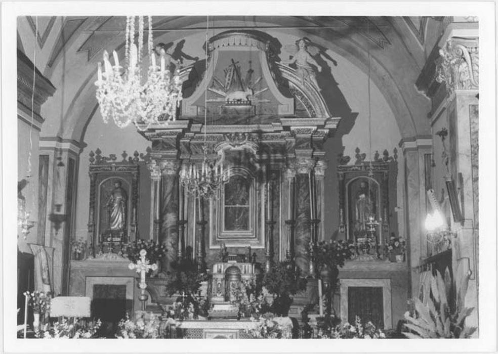 Autel et retable du maître-autel