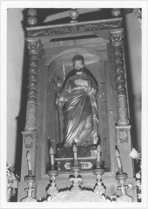 2 statues (petites natures) : saint Joseph et saint Antoine abbé