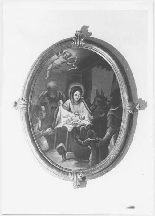 Tableau et son cadre : la Nativité