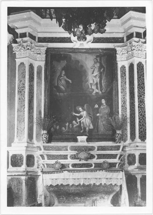 Autel et retable des Ames du Purgatoire et son tableau