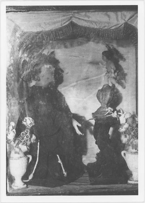 groupe sculpté : Apparition de Jésus à Saint Antoine de Padoue, vue générale