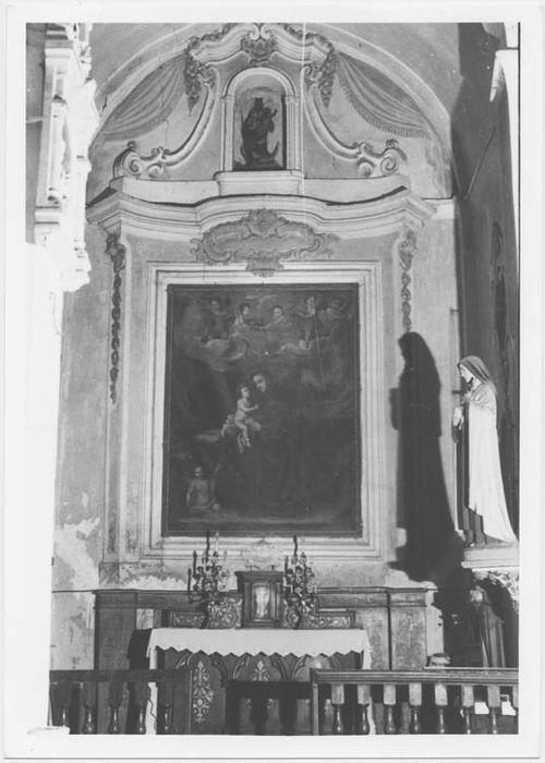 retable et tableau : Jésus apparaissant à saint Antoine de Padoue, vue générale