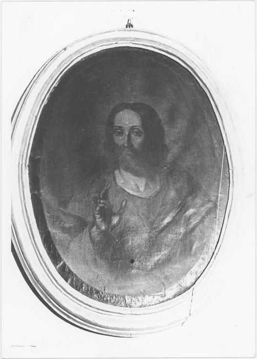 tableau et son cadre : Jésus au sacré Coeur, vue générale
